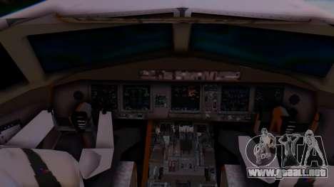 Boeing 777-9x British Airways para GTA San Andreas vista posterior izquierda
