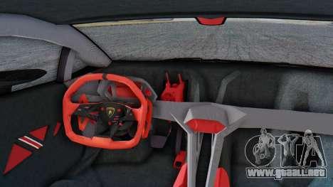 Lamborghini Sesto Elemento 2010 para GTA San Andreas vista hacia atrás