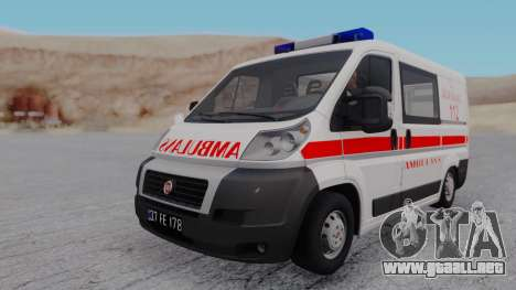 Fiat Ducato Turkish Ambulance para GTA San Andreas