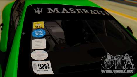 Maserati Gran Turismo Tron para GTA San Andreas vista hacia atrás