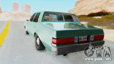 Chevrolet Malibu 1981 Twin Turbo para GTA San Andreas left