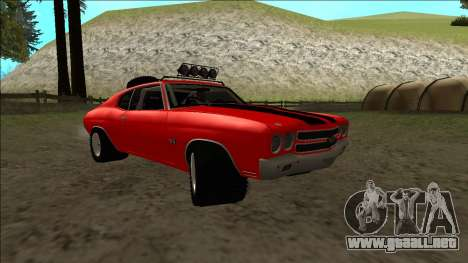 Chevrolet Chevelle Rusty Rebel para visión interna GTA San Andreas