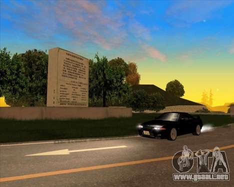 Nissan Skyline GT-R BNR32 Initial D Legend 2 N.K para GTA San Andreas vista hacia atrás