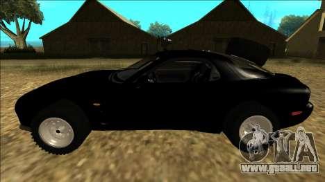 Mazda RX-7 Rusty Rebel para GTA San Andreas left
