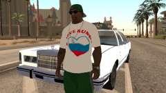 T-shirt amo Rusia para GTA San Andreas