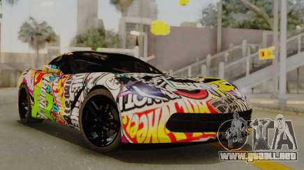 Chevrolet Corvette Stingray C7 2014 Sticker Bomb para GTA San Andreas