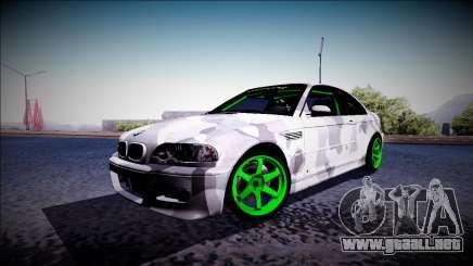 BMW M3 E46 Drift Monster Energy para GTA San Andreas