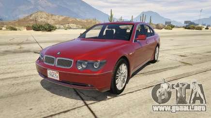 BMW 760i E65 para GTA 5