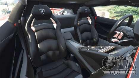 GTA 5 Lamborghini Aventador v1.0 vista lateral derecha