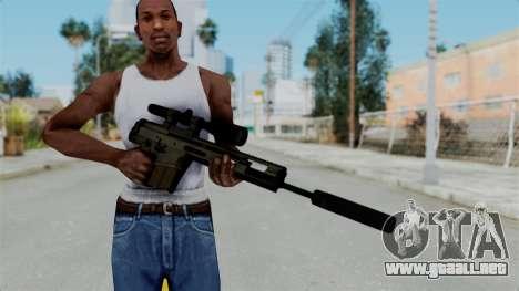 SCAR-20 v2 Folded para GTA San Andreas tercera pantalla