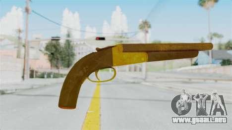 Double Barrel Shotgun Gold Tint (Lowriders CC) para GTA San Andreas segunda pantalla