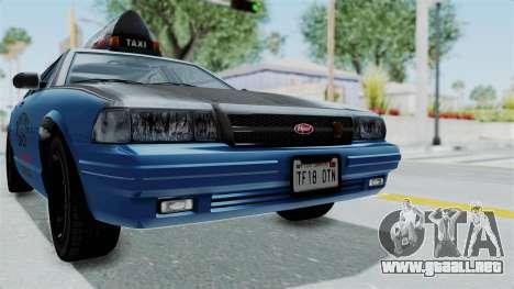 GTA 5 Vapid Stanier II Taxi IVF para vista lateral GTA San Andreas