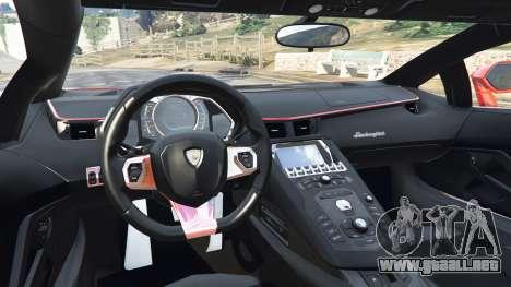 GTA 5 Lamborghini Aventador v1.0 vista lateral trasera derecha