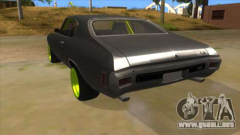 1970 Chevrolet Chevelle SS Drift Monster Energy para GTA San Andreas vista posterior izquierda