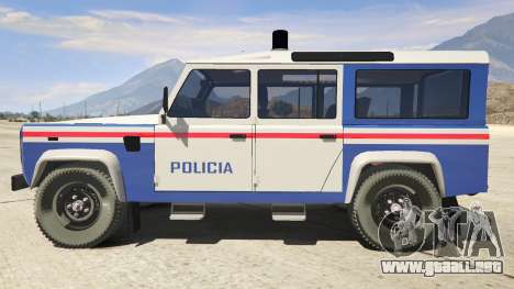 GTA 5 Land Rover Defender vista lateral izquierda