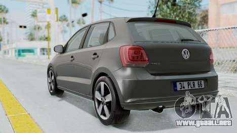 Volkswagen Polo 6R 1.4 HQLM para GTA San Andreas left