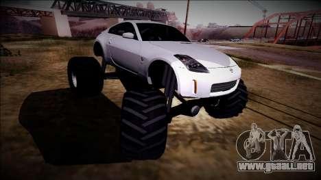 Nissan 350Z Monster Truck para visión interna GTA San Andreas