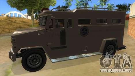 GTA 5 Brute Riot Police para GTA San Andreas left
