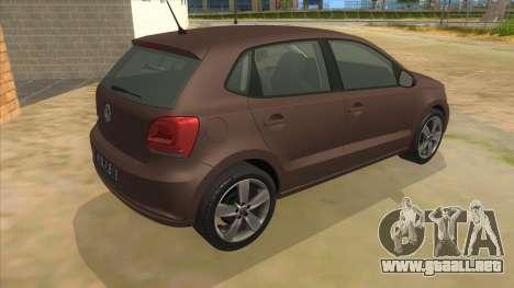 Volkswagen Polo 6R 1.4 para la visión correcta GTA San Andreas