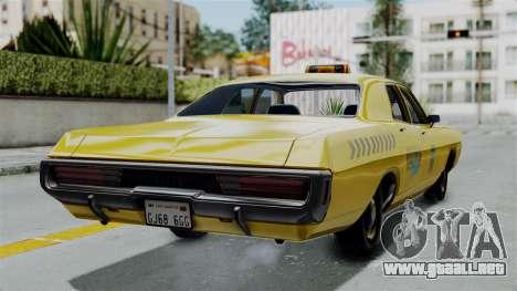 Dodge Polara 1971 Kaufman Cab para GTA San Andreas left