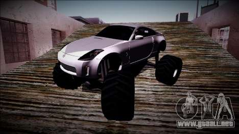 Nissan 350Z Monster Truck para vista lateral GTA San Andreas