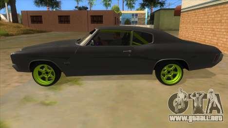 1970 Chevrolet Chevelle SS Drift Monster Energy para GTA San Andreas left