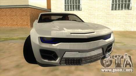 Chevrolet Camaro DOSH tuning MQ para GTA San Andreas vista hacia atrás