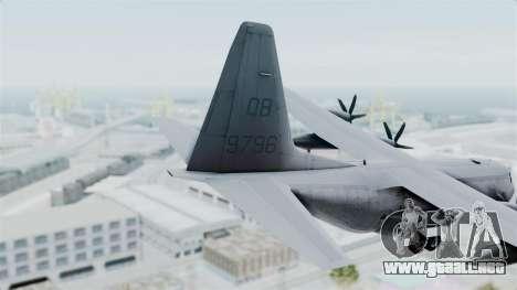 KC-130J Harvest Hawk para GTA San Andreas vista posterior izquierda