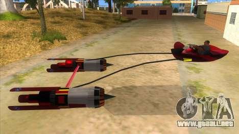 StarWars Anakin Podracer para GTA San Andreas left