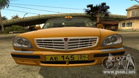 GAZ 31105 Volga Taxi FIV para visión interna GTA San Andreas