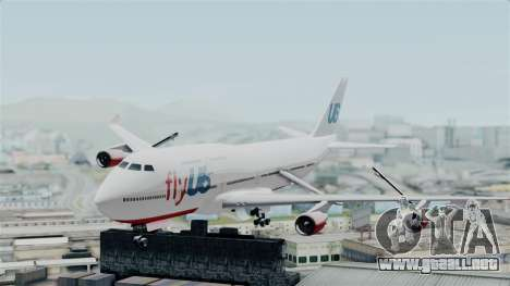 GTA 5 Jumbo Jet v1.0 FlyUS para GTA San Andreas vista posterior izquierda
