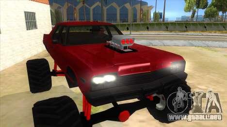 1974 Dodge Monaco Monster Truck para GTA San Andreas vista hacia atrás
