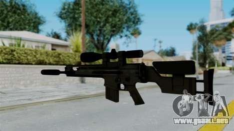 SCAR-20 v2 Supressor para GTA San Andreas segunda pantalla