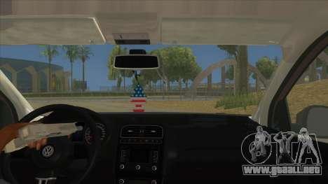 Volkswagen Polo 6R 1.4 para visión interna GTA San Andreas