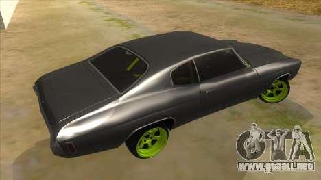 1970 Chevrolet Chevelle SS Drift Monster Energy para la visión correcta GTA San Andreas