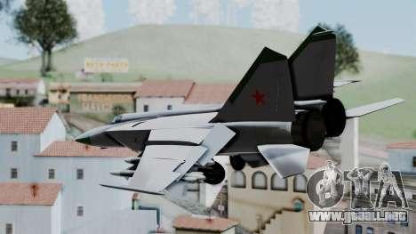 MIG-25 Foxbat para GTA San Andreas left