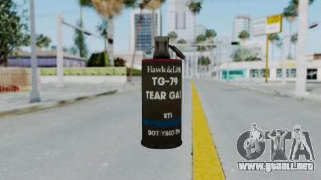 GTA 5 Tear Gas para GTA San Andreas tercera pantalla