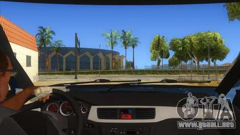 Mitsubishi Pajero Sport Dakar 2015 para visión interna GTA San Andreas