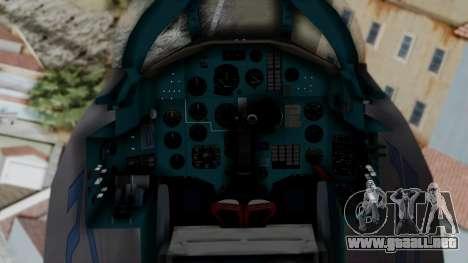 MIG-25 Foxbat para la visión correcta GTA San Andreas