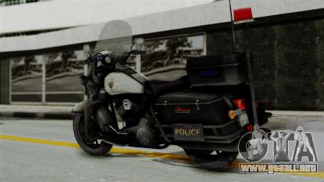 Police Bike from RE ORC para GTA San Andreas left