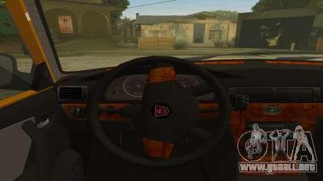 GAZ 31105 Volga Taxi FIV para GTA San Andreas vista hacia atrás