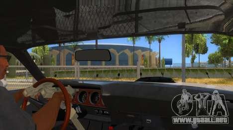 1971 Plymouth Hemi Cuda Monster Truck para visión interna GTA San Andreas