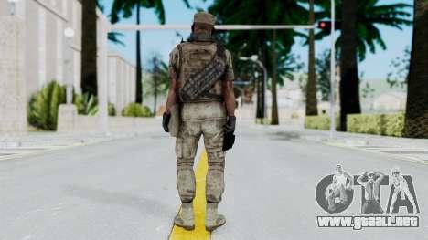 Crysis 2 US Soldier 4 Bodygroup B para GTA San Andreas tercera pantalla