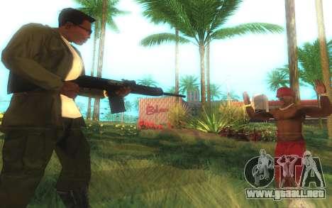 Saiga-12 Calibre para GTA San Andreas sucesivamente de pantalla