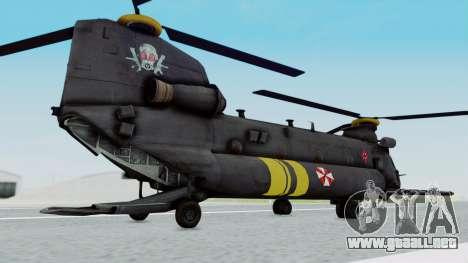 MH-47 Umbrella U.S.S para GTA San Andreas left