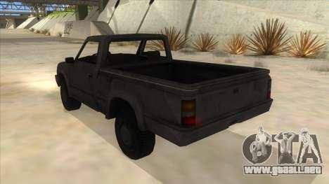 Toyota Hilux Militia para GTA San Andreas vista posterior izquierda