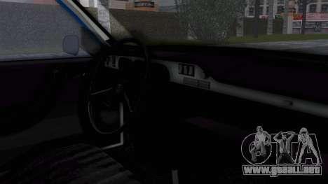 Dacia 1300 Police para la visión correcta GTA San Andreas