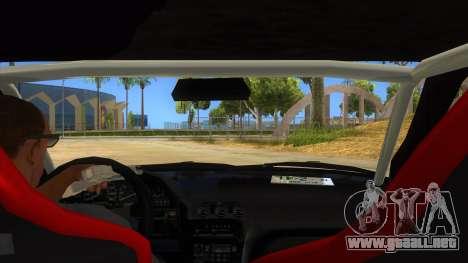 Nissan 240SX Stance Nico Yazawa Itasha Livery para visión interna GTA San Andreas