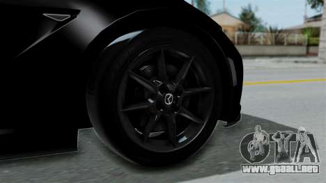 Mazda MX-5 Miata 2016 para GTA San Andreas vista posterior izquierda