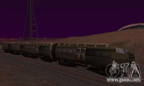Batman Begins Monorail Train v1 para GTA San Andreas interior